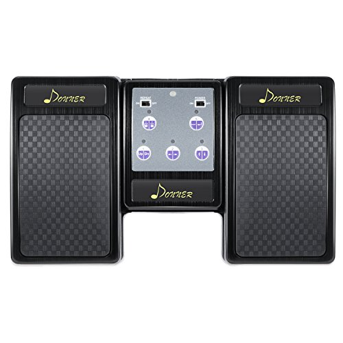 Donner Bluetooth Cambiador de Página Pedal de Música para iPad / Tableta Android / MAC / PC Color Negro
