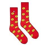 4LCK calcetines coloridos Smileys (Calcetines Smileys rojo, EU: 39-42)