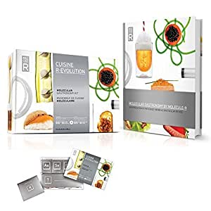 Molecule R-Evolution Cuisine Kit plus Molecular Gastronomy Book with 40 Recipes Introductory Package by Molecule-R