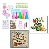 OFKPO 19 Stück Quilling Werkzeuge Set,zum Basteln Papier Quilling Dekoration für Haus und Büro