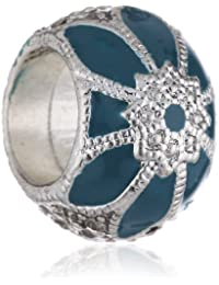 Pilgrim Jewelry Damen-Anhänger aus der Serie Charming versilbert türkis 1.2 cm 421246203