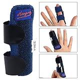 Finger Splint Finger Schiene, verstellbarer Befestigungsgürtel mit integrierter Aluminium Stütze für Finger Sehnen Release und Schmerzlinderung