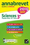 Annales du brevet Annabrevet 2019 Sciences (Physique-chimie...