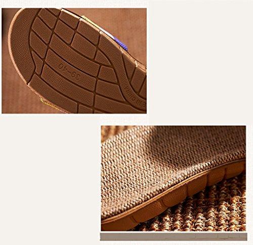 Uomini E D D'estate Pantofole Amanti Donna Di Casa Donne C Dintérieur Dimensione A Spessore 24 Di 25cm Lino 5 Scivolare Pistoni Estate colore qgTwIvX