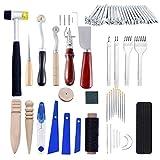 Pratico Articoli in pelle fatti a mano, set di strumenti in pelle fai-da-te, set da cucito a mano, scanalatore, tipografo, strumento di arte in pelle durevole