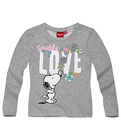 Snoopy Fille Tee-shirt manches longues - gris - 8