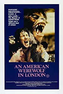 """An American Werewolf in London 1981 Reproduction Poster Size 11.7"""" x 16.5""""- 297mm x 420mm"""