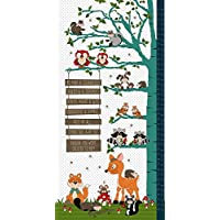 WOODLAND HEIGHT CHART FABRIC PANEL - Woodland Height Chart - Panel - HG29 - By Henry Glass - 100% Cotton