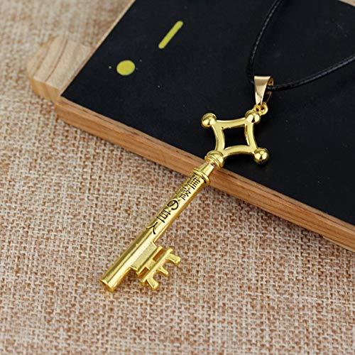 Angriff Auf Titan Eren Schlüssel Halskette Metall Anhänger Halskette Eren Cosplay Schmuck Spielzeug Anime Figur Anime Schmuck Fabrik Direktverkauf