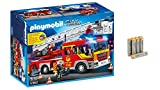 AmazonBasics PLAYMOBIL 5362 - Feuerwehr-Leiterfahrzeug mit Licht und Sound Performance Batterien Alkali, AAA, 8er Pack