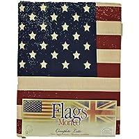 Completa las Hojas de Banderas Banderas Estrellas, estados UNIDOS reino unido de Algodón Puro - Morpheus - Rojo, Solo