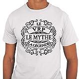 Photo de Closset VRP Le Mythe La Légende | T-Shirt Homme Métier Humour Fun et Drôle - Tshirt Idéal pour idée Cadeau Anniversaire, collègue Travail, fête des pères, Noël par Closset