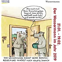 Wassermann Mini 2019: Sternzeichenkalender-Cartoon - Minikalender im praktischen quadratischen Format 10 x 10 cm.