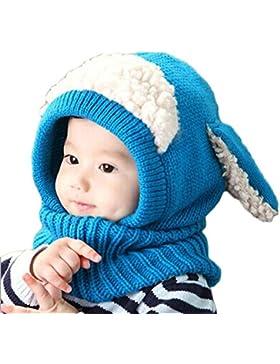 Koly® Inverno bambino caldo Caps sciarpa di lana Coif Hood