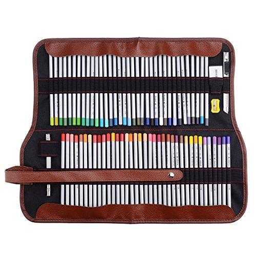 Marco raffine 7100,72matite colorate da artista con astuccio in tela arrotolabile, per disegno, scrittura, schizzi ecc.