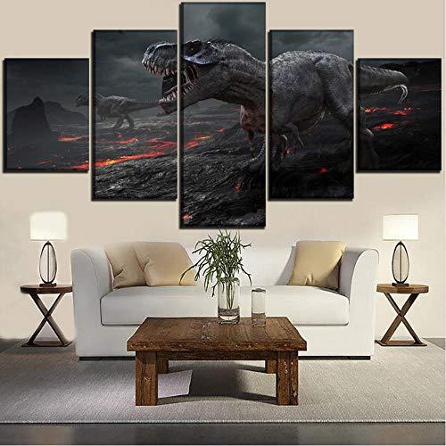 HD Leinwand Malerei Wand Kunstdruck Minimalismus Aquarell 5 Satz Moderne Jurassic Park Poster Modulare Bild Büro Dekoration