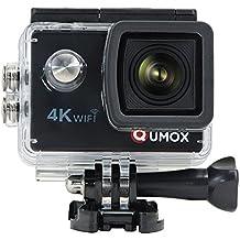 QUMOX 4K 30fps Ultra HD Cámara de deportes WIFI Casco Mini DV Videocámara de acción
