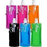BESTZY Plegable Botella de Agua, 6 Unidades Plegable sin BPA Botellas de Canteen,La...