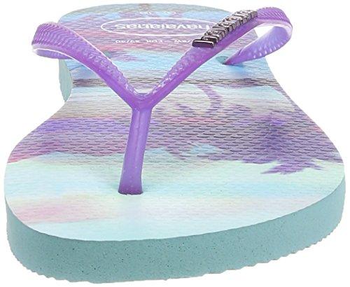 Havaianas Hav. Slim Paisage, Tongs Femme Multicolore (Ice Blue / 0642)
