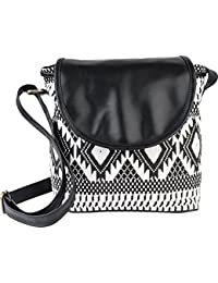 Ankit Fashion Women's Sling Bag Set Of 4(Black,BnB306LY-Bl)