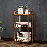 DULPLAY Bambus 5-Stufen Bücherschrank, Regal-Display Rack Standregal Schmale Bibliothek-Display-ständer Groß Multipurpose Für zuhause oder im büro -A 35x25x71cm(14x10x28inch)