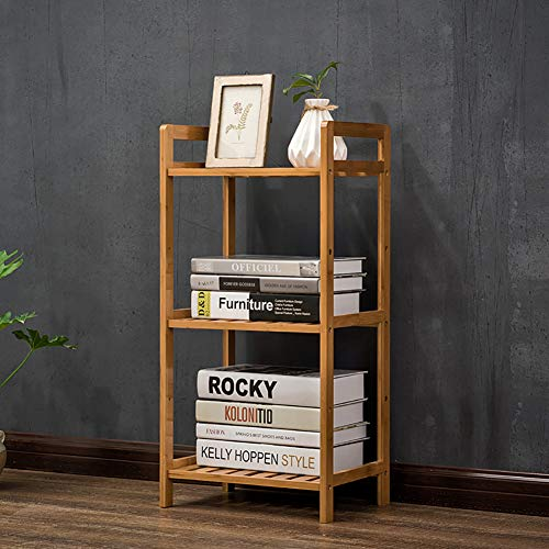 DULPLAY Bambus 5-Stufen Bücherschrank, Regal-Display Rack Standregal Schmale Bibliothek-Display-ständer Groß Multipurpose Für zuhause oder im büro -A 35x25x71cm(14x10x28inch) -