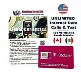 Carte SIM prépayée: Données illimitées aux États-Unis - Free Roaming (5 Go) au Canada et au Mexique - Appels illimités et SMS