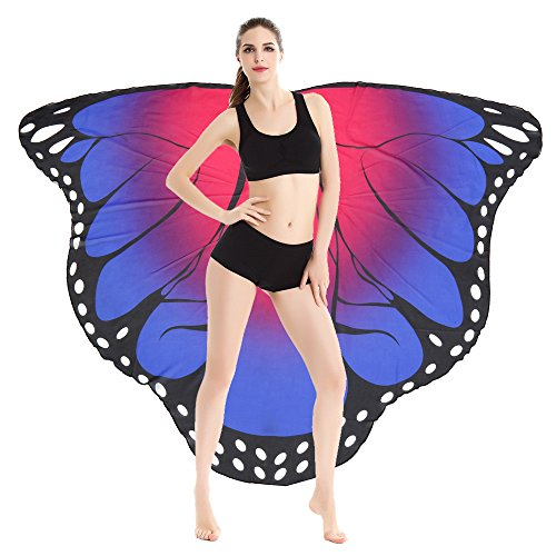 saymany Butterfly Wings Shawl Cosplay Kostüm Zusatz Karneval Cosplay Soft Fabric Butterfly Wings Shawl Fee Ladies Nymph Pixie ()
