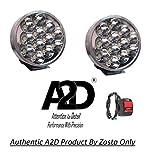 A2D 12 LED Aux Bike Fog Lamp Light Set of 2 White