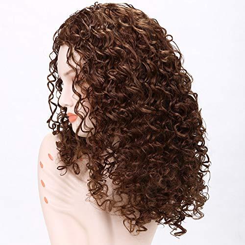 DANTB Tiefe Welle spitzefrontseite perücke glueless spitzeperücke Synthetisches Haar für Schwarze Frauen pre gezupft unverarbeitete Jungfrau,Brown