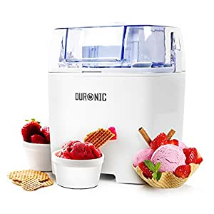 Duronic IM540 Sorbetière à glace, sorbet, yaourt glacé, crème glacée – Minuteur programmable