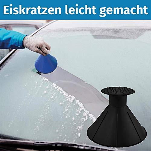 IceWonder Eiskratzer - Scheibenkratzer für\'s Auto rund - | Anti EIS Trichter Eiskratzer (1)