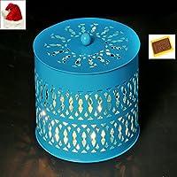 Ghasitaram Gifts Christmas Gift - Blue Metal Light Basket With Christmas Chocolate Bar
