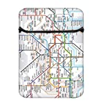 Snoogg London Tube Map 8 Zoll Gepolsterte Laptoptasche Flip Sleeve Tasche