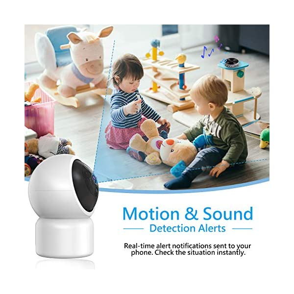 """Baby Camera 1080P IP Camera, JUMPER WLAN Security Camera Pan/Tilt ONVIF IP Cam P2P Network Camera Baby Monitor 2 Way Audio IR-Cut Night Vision Motion Detection Jumper 【 JUMPER 1080P WIFI Baby Cam 】 -- Built-in WiFi module, supports 802.11b / g (supports only 2.4G, no 5G WIFI). Standard H.264 video compression. Network settings through the APP """"YCC365 Plus"""", supports iOS and Android Smartphone/Tablet PC. 【 2,0 Megapixel CMOS Sensor & Intelligent Tracking】 -- Pan:355°/ Tilt:120° , ; Maximum image resolution up to 1080P. This IP camera can recognize people and follow their movement to keep monitor . 【 2 Way Audio & Alarm detection】 --The baby monitor supports 2 way audio (built-in mic & speaker) and micro SD card up to 128G (card is not included). The WiFi IP Camera supports motion detection alarm, push notification alarm, whistle alarm. 6"""