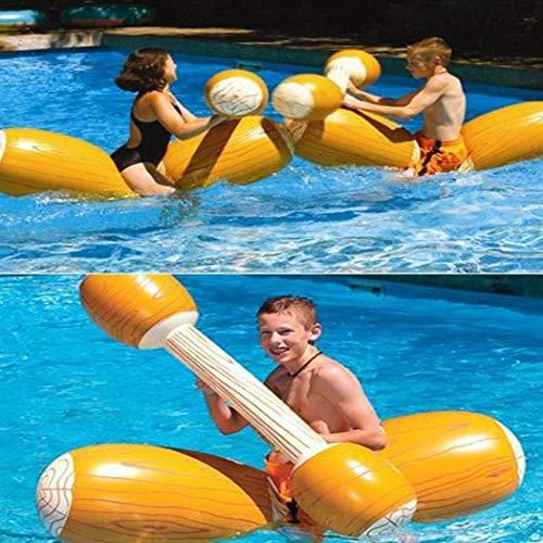 Okenrin 4 pcs anello gonfiabile di nuotata del bastone della sedia della zattera del galleggiante del giocattolo del gioco di spettacolo 'acqua sport acquatici