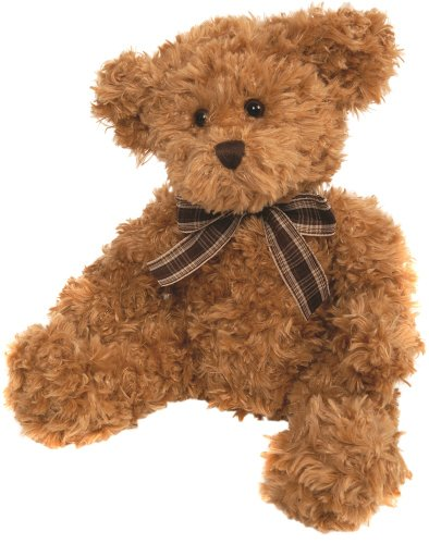 suki-gifts-bear-from-the-past-lucas-soft-plush-traditional-bear-medium-caramel-with-plaid-ribbon