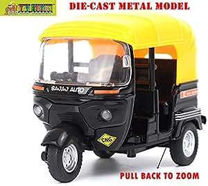 TOY-STATION 1:14 Scale Bajaj Auto Die-Cast Metal Model Toy for Kids (Multicolour)