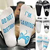 Toamen Do Not Disturb, I'm Gaming Novelty Funny Ankle Socks Christmas Sale Clearance Men Women Unisex Letter Funny Mid Calf High Socks, Great Gift For Game Lovers