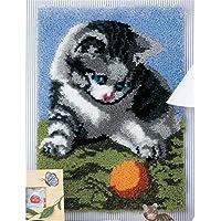 14 Modell Cat Knüpfkissen Latch Hook Kit Cat 307 52 by 38 cm