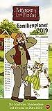 Pettersson und Findus - Familienplaner - Kalender 2019 - Heye-Verlag - Familienkalender - Mit 5 Spalten, Schulferien und 2 Stundenplänen - 21 cm x 45 cm
