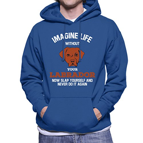 Imagine Life Without Your Labrador Men's Hooded Sweatshirt Royal Blue
