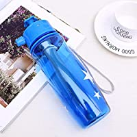 caomei Multi-functional Spray Water Bottle for Drinking Mister Water Sprayer in Travel Camping and Pets Drinking Blue 650ml