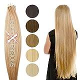 20 x Echthaar Tape On/In Extensions Haarverlängerung 50cm Tape Haare mit Klebeband pro Tresse 2,5g Gewicht - Tressen je 4 cm breit - Farbe #kupfer