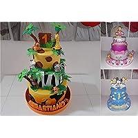 Torta scenografica/finta in gomma eva per nascita, battesimo, compleanno, comunione, cresima, laurea, matrimonio, 100…