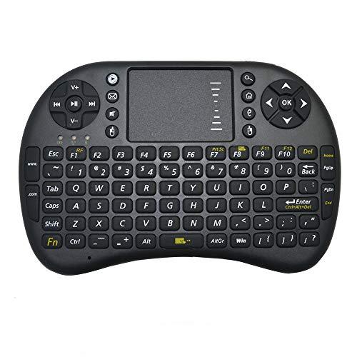 2,4 GHz drahtlose Multimedia-RC-Tastatur mit Touchpad-Handheld-Tastaturmaus für PC, Pad, Andriod TV Box, Google TV Box, Xbox360, PS3, HTPC/IPTV (Schwarz)