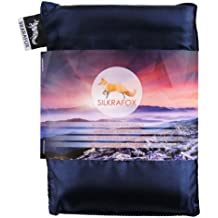 Silkrafox - Saco de dormir ultraligero para las excursiones de senderismo, los viajes, las acampadas, seda artificial, azul