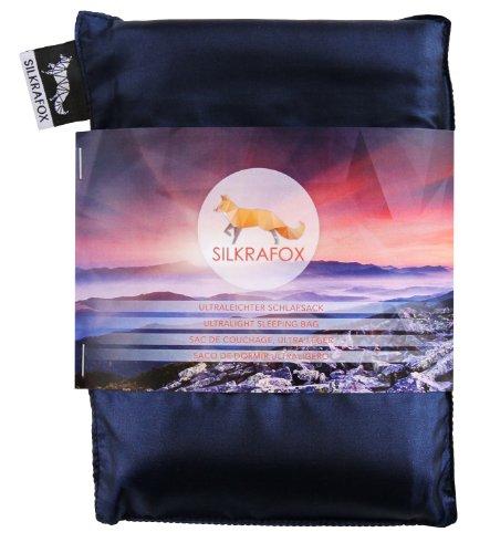 Silkrafox Sac de couchage ultra-léger, soie artificielle, le compagnon idéal des randonnées, des voyages ou du camping