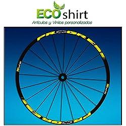 "Ecoshirt 2K-L69Y-JC1E Pegatinas Stickers Llanta Rim Progress Xcd EVO Am44 MTB Downhill, Amarillo 29"""