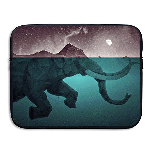 ZMviseArtistic Elephantdie schlanke, gepolsterte laptop weicher neopren - ärmel tasche fall decken für notebook - computer ipad - tablet